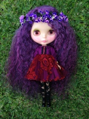 Helen's custom with mohair re-root